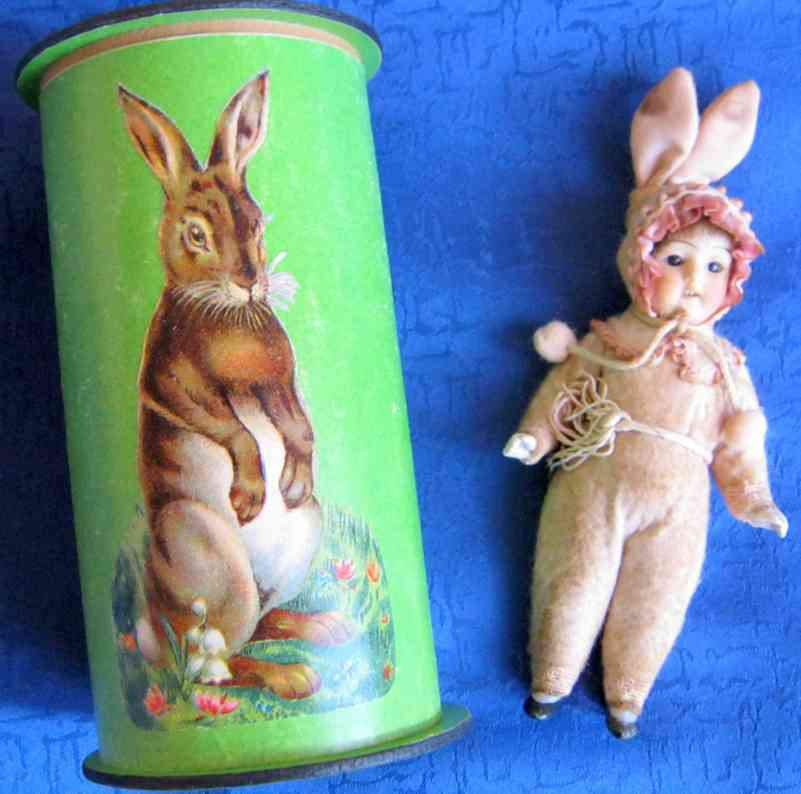 hertwig & co porzellan-hasenpuppe candycontainer
