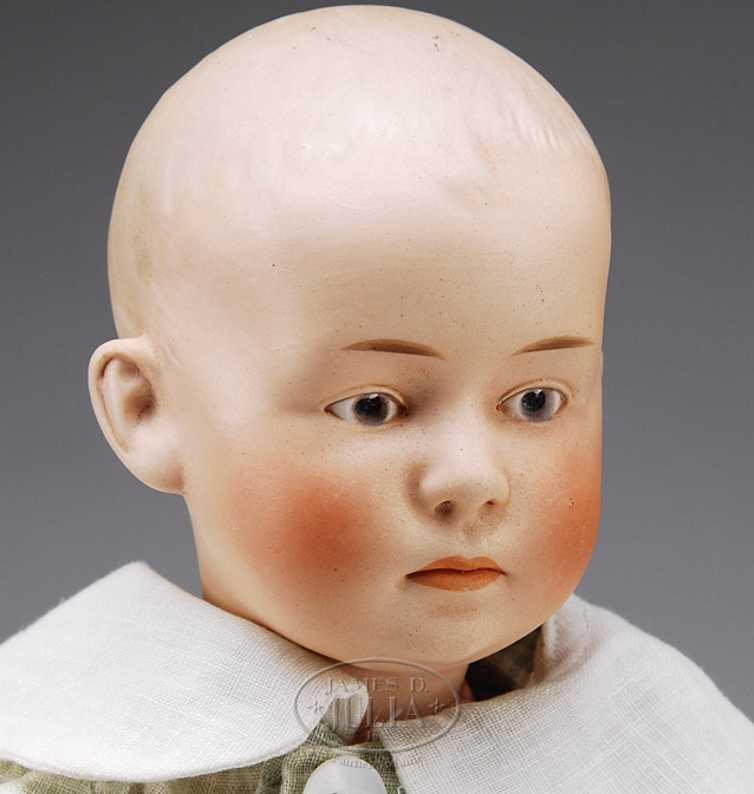 Heubach Gebr. 5 7602 Puppen Characterbaby Jungenpuppe