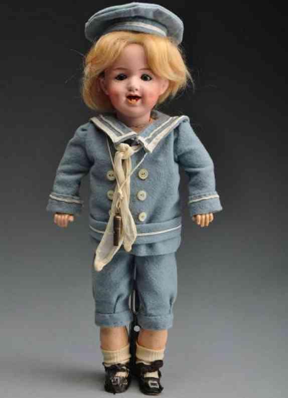 heubach gebr 5636 bisque socket head character doll