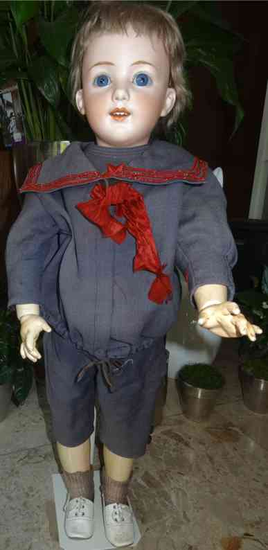 heubach gebr 5689 12  boy bisque head doll