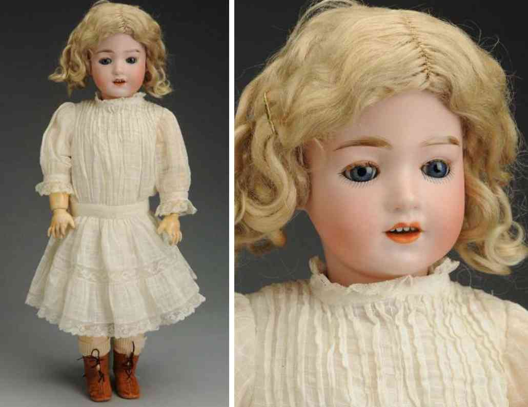 heubach gebr 5730 santa bisque socket head doll