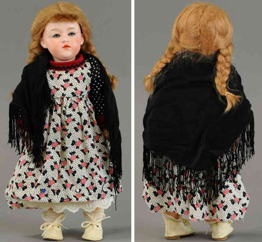 heubach gebr character child doll 6970 3 1/2 germany