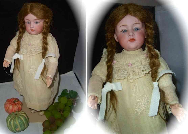 heubach gebr. 6970 3 1/2 porcelain head doll