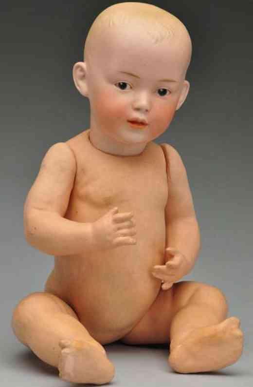 heubach gebr 7 7109  bisque socket head character baby doll