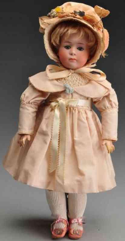heubach gebr 7246 bisque socket head character doll