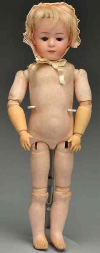 heubach gebr 7247 bisque socket head child doll