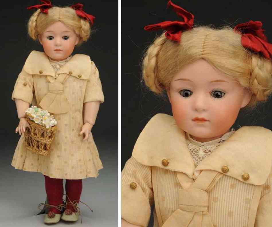 heubach gebr 72 bisque socket head character doll