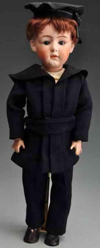 Heubach Gebr. 7347 Bisque socket head character boy doll
