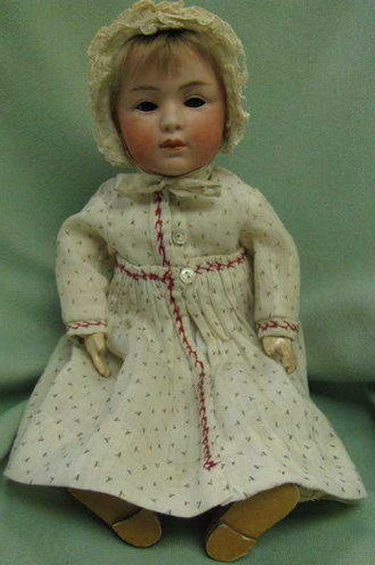 heubach gebr. 7407 3 doll with bisque head