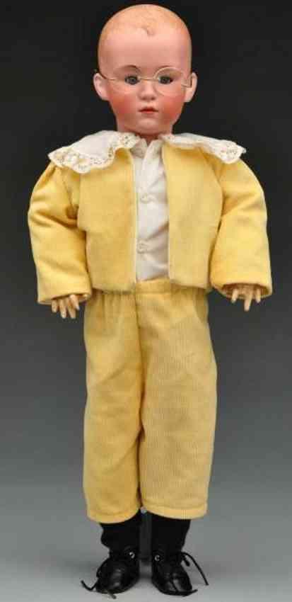 Heubach Gebr. 7603 Bisque socket head character boy doll