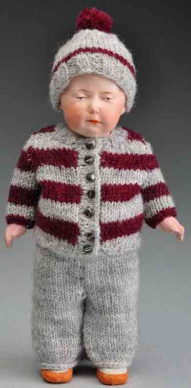 Heubach Gebr. 7789 Bisque socket head character doll