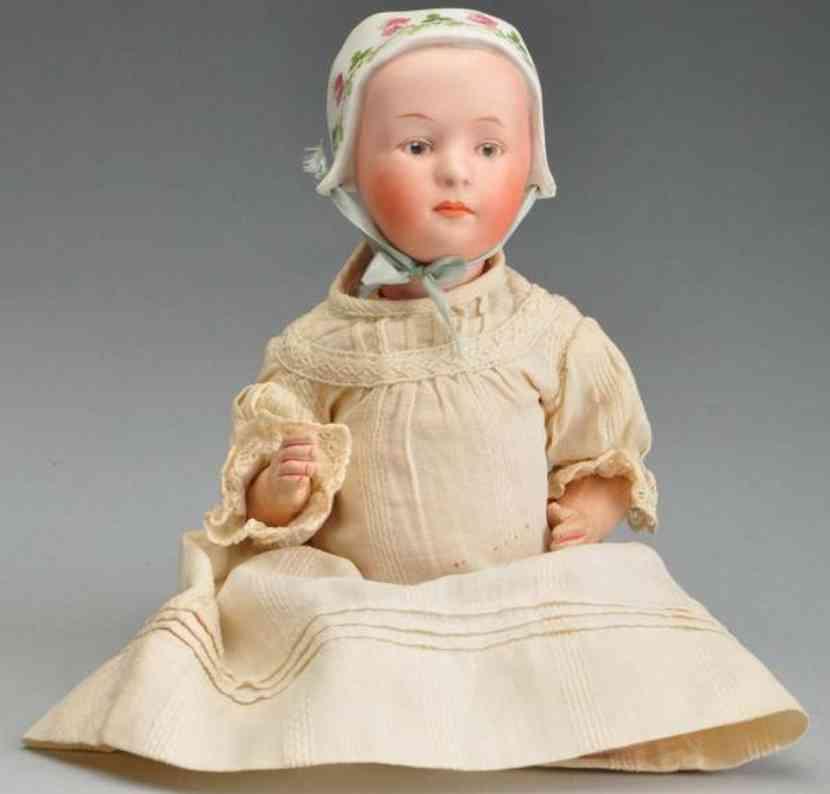 Heubach Gebr. 7877 Porzellangelenkkopf Charakterpuppe Baby Stuart
