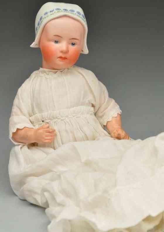 Heubach Gebr. 7877 Bisque socket head character doll Baby Stuart
