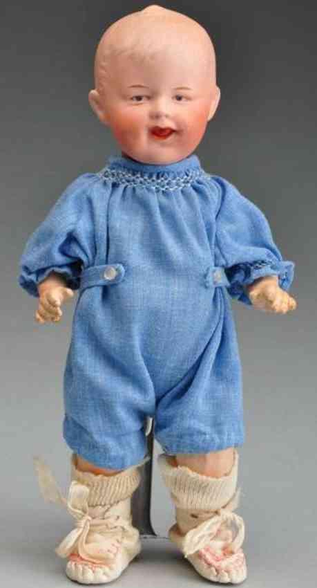 Heubach Gebr. 7911 Bisque socket head character doll