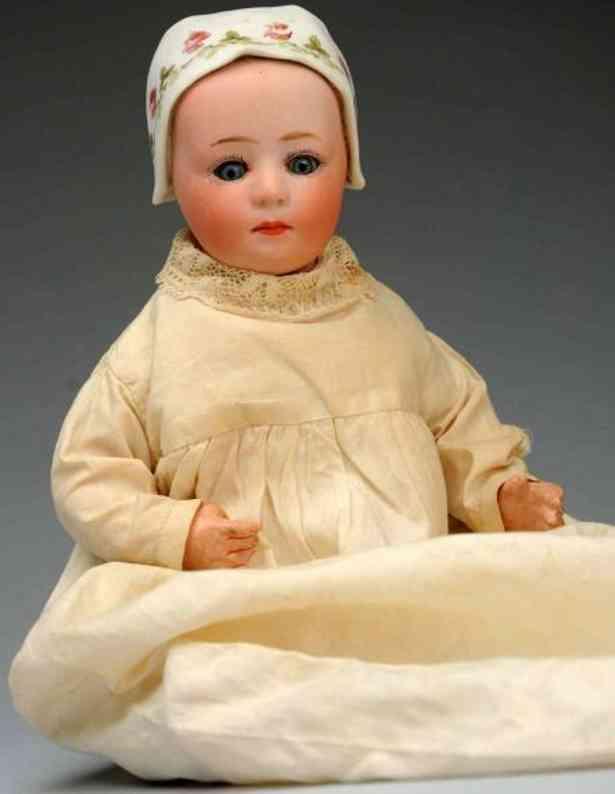 heubach gebr 7975 bisque socket head character baby doll