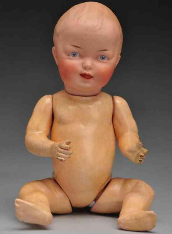 Heubach Gebr. 8570 Bisque socket head character baby doll