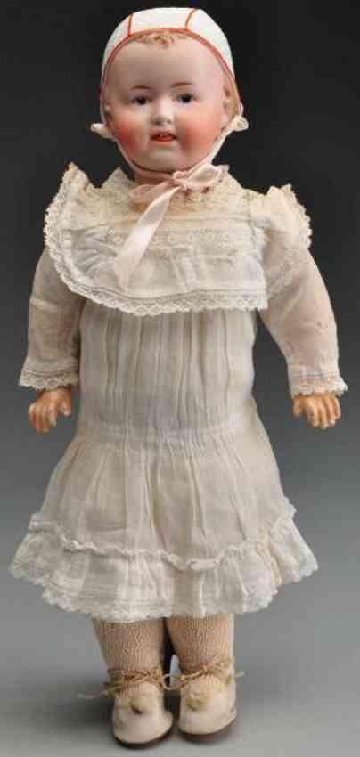 Heubach Gebr. 8649 Bisque socket head character doll