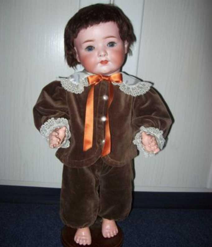 Heubach Ernst Köppelsdorf 320.6 Puppe Babystehkörper mit Stimme