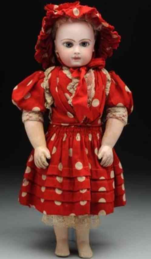 jumeau 1 first series portrait bebe bisque head doll