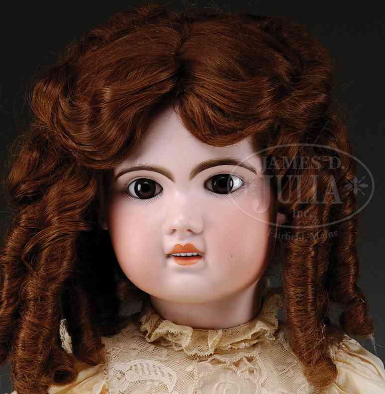 jumeau 1907 14 (74) puppen puppe mit dunkelbraunen augen, gemalten wimpern und dicken a