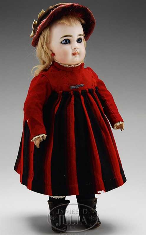 jumeau depose 6 cabinet sized bisque head doll
