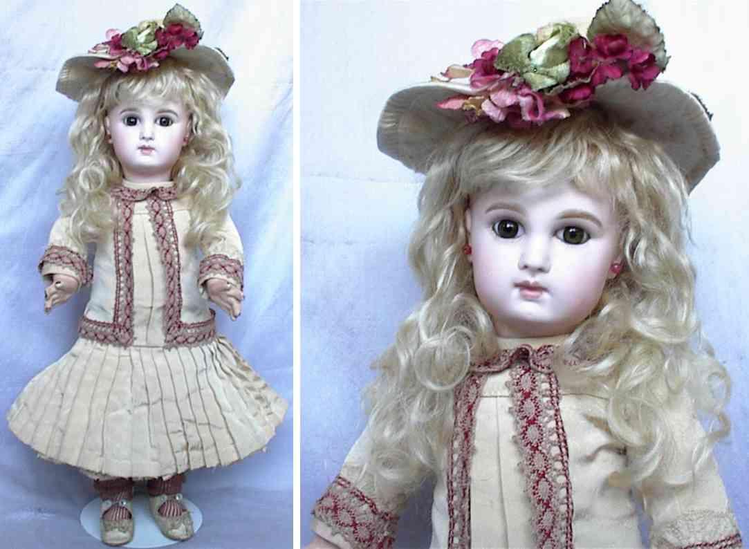 jumeau depose 7 bisque socket head doll
