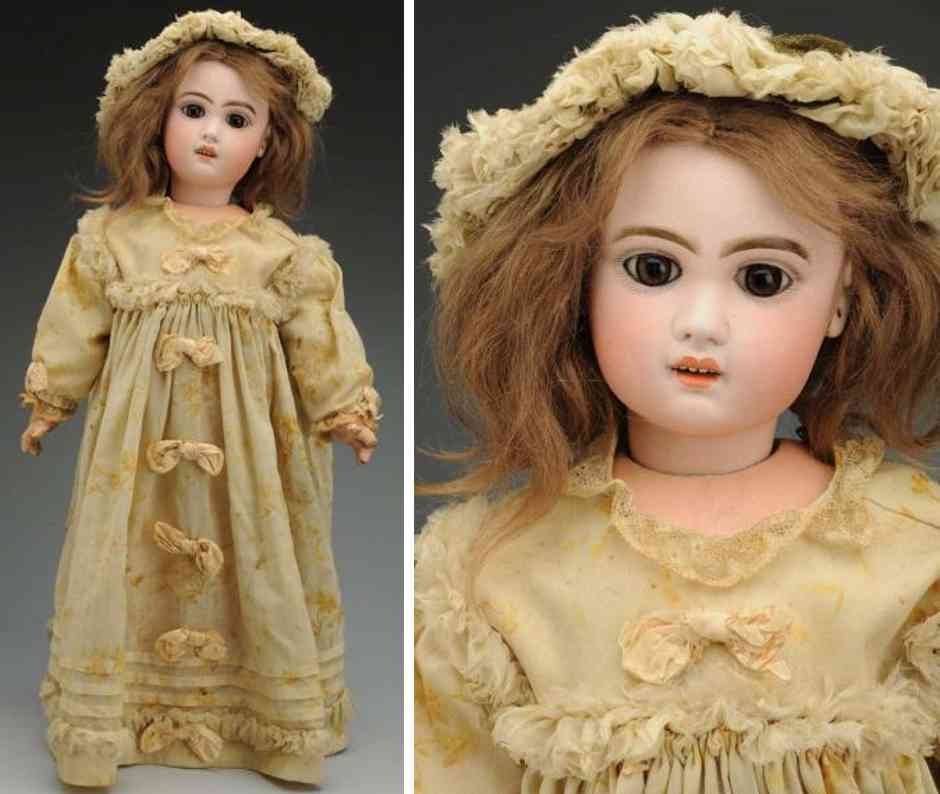 tete jumeau 8 bisque socket head baby doll