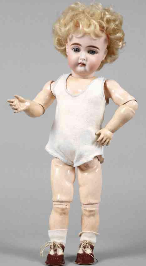 kammer & reinhardt 192 10 porcelain socket head doll girl