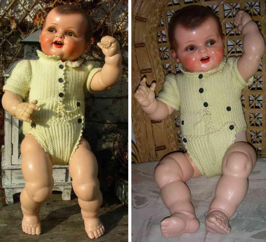 Kämmer & Reinhardt 351/6 Celluloid Bub Puppe