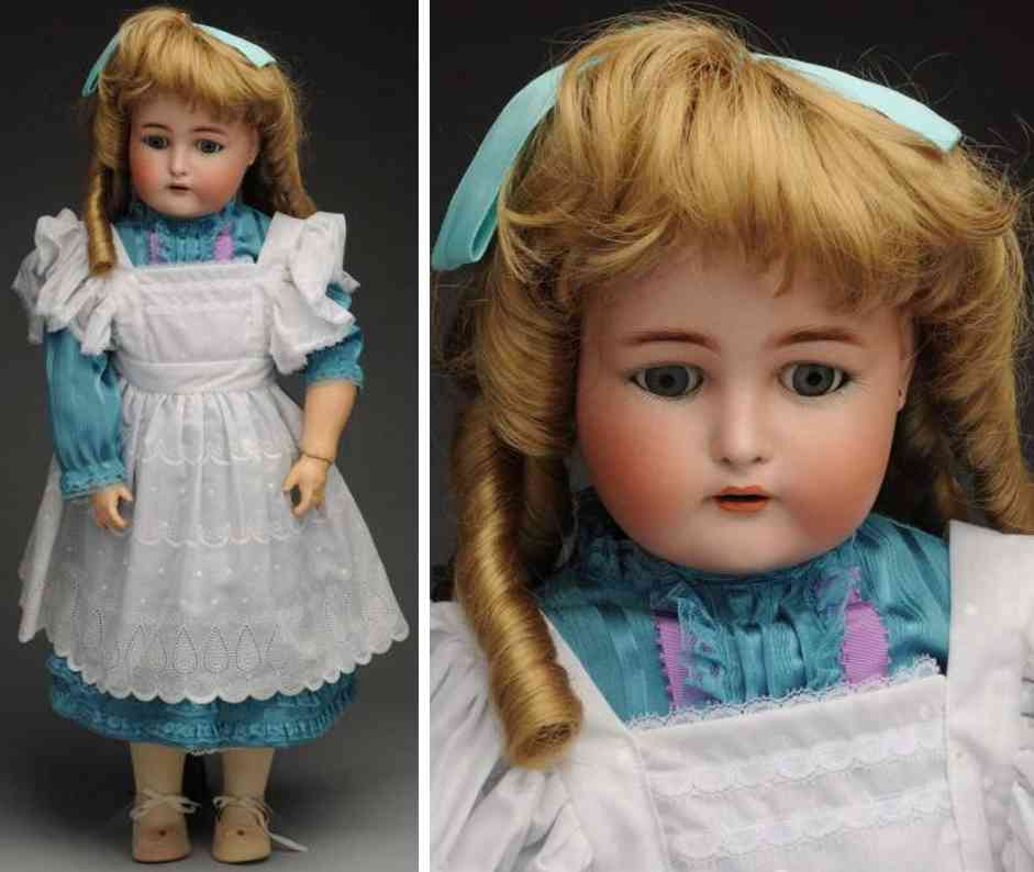 kaemmer & reinhardt 76  bisque socket head child doll