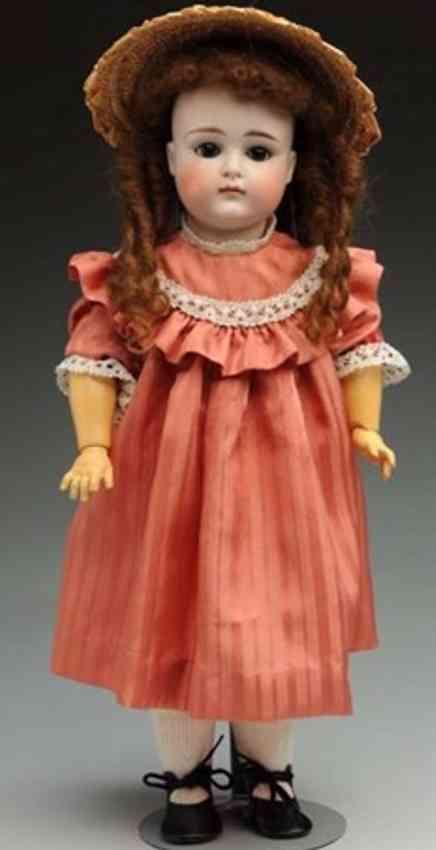 kestner jdk 10 bisque socket head child doll