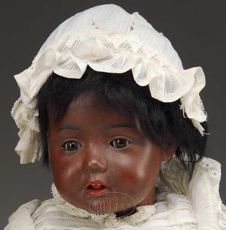 Kestner J. D. 10 245 1914 Hilda schwarze Babypuppe
