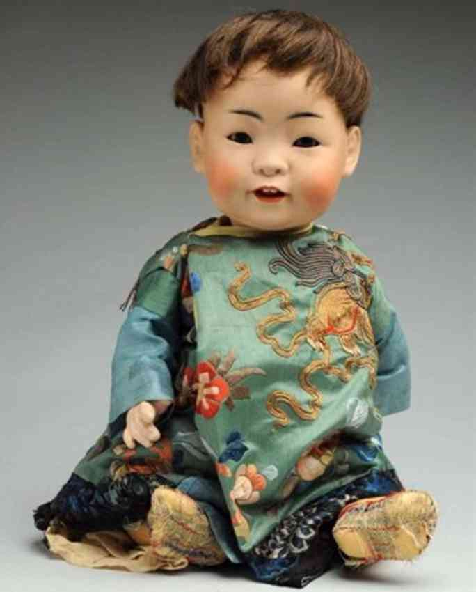 kestner jdk 14 243  desirable oriangal baby doll with bisque socket head