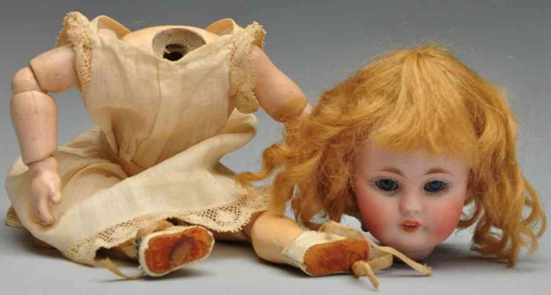 kestner jdk f 2/0 143 bisque socket head child doll