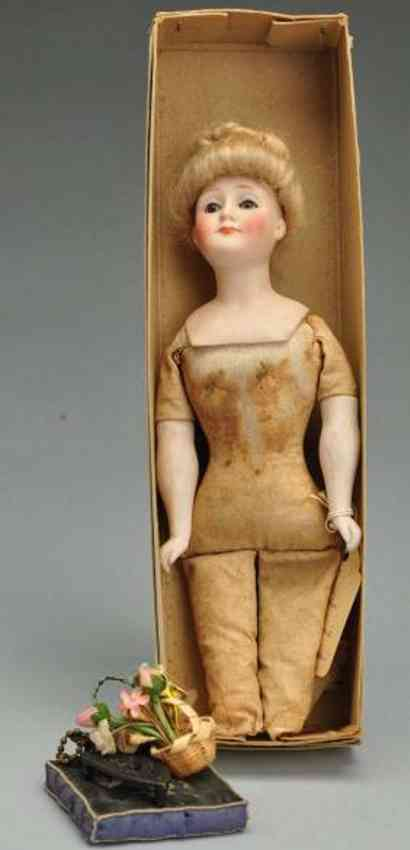 kestner jdk 6/0 172 bisque shoulder head gibson girl lady doll