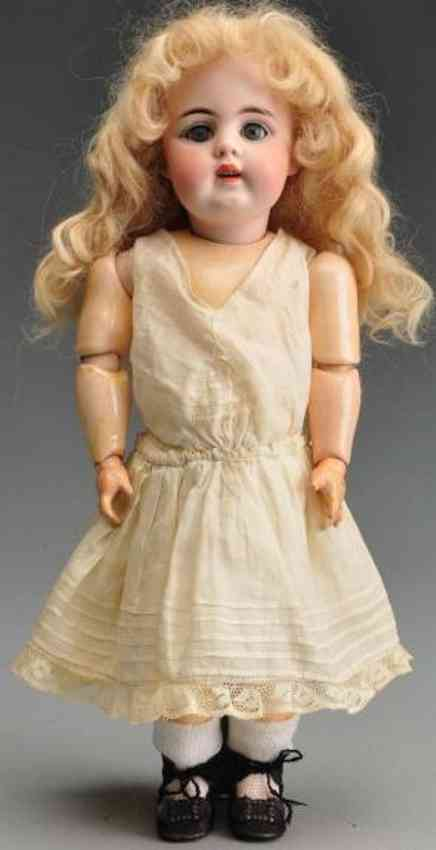 Kestner J. D. 6 156 Bisque socket head child doll