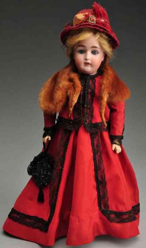 Kestner J. D. 6 162 Bisque socket head lady doll