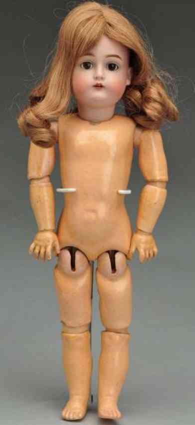 Kestner J. D. 6 174 Bisque socket head child doll