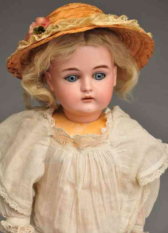 Kestner J. D. B 6 1/2 167 Bisque socket head child doll