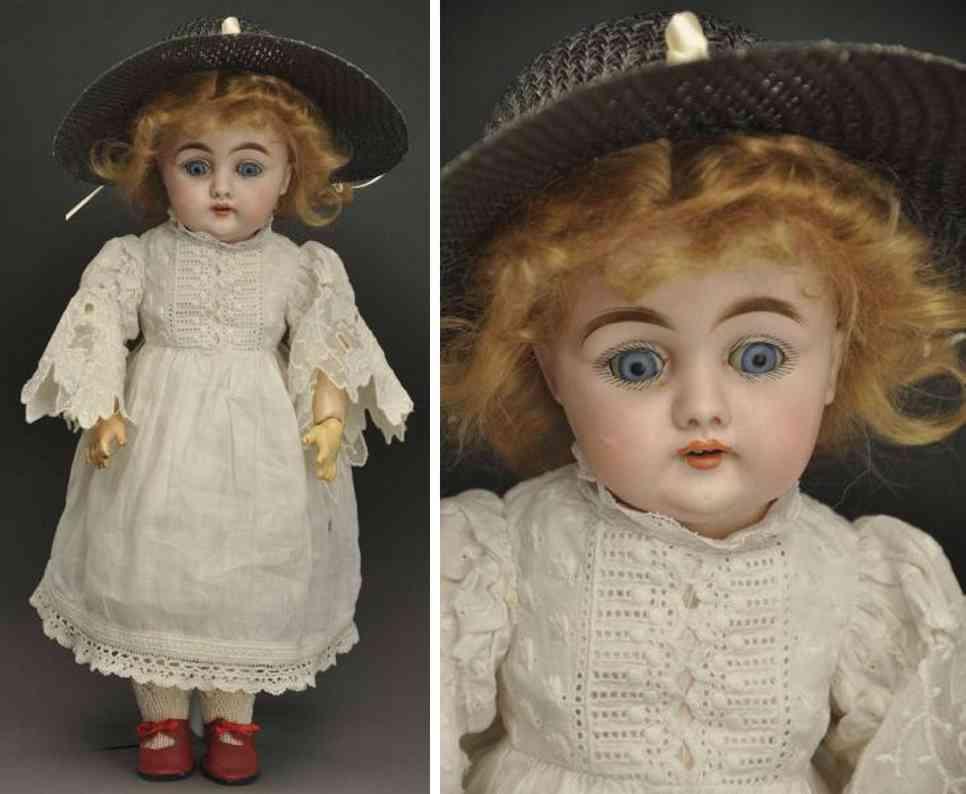 kestner j d C 7 bisque socket head character doll
