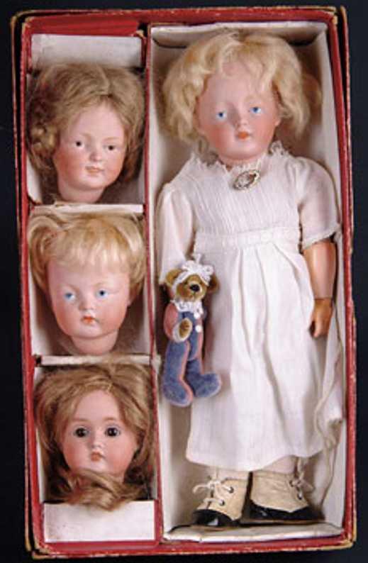Kestner J. D. Puppen Set mit vier Köpfen