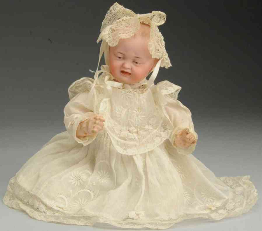 kley & hahn 567 bisque socket head character baby doll two faces