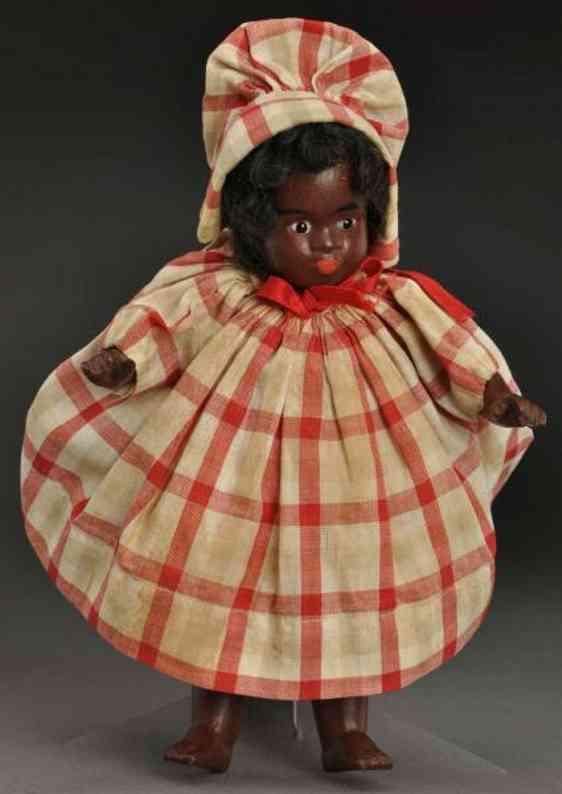kuhnlenz gebruder ag 61 15 all-bisque black character doll