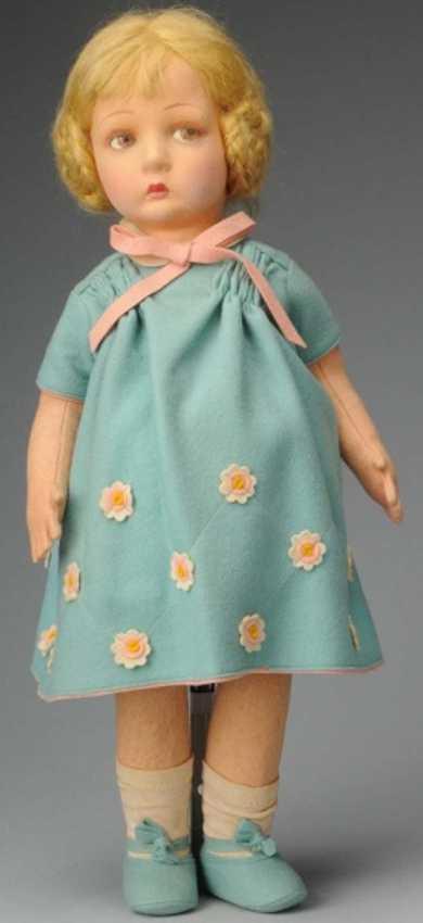 Lenci Puppe Mädchen mit Benedetta Gesicht