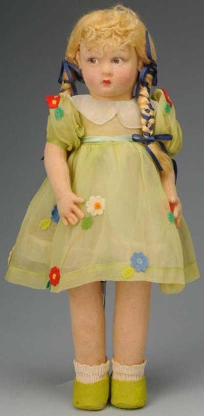 Lenci Puppe Stoffmädchen mit Lucia geformtem Gesicht