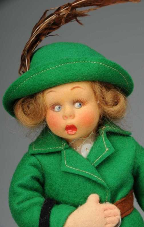 Lenci Puppe Mädchen mit Hutschachtel