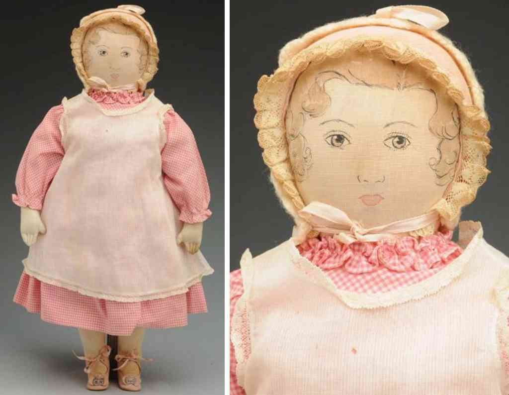 moravian ladies sewing society  cloth polly heckewelder doll