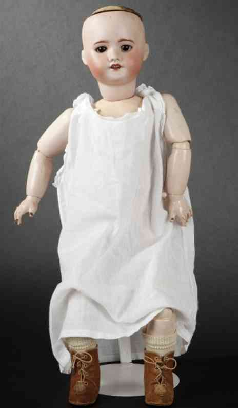 sfbj 60 6 (57) dolls french doll with bisque head, open mouth, marked sfbj 60 par