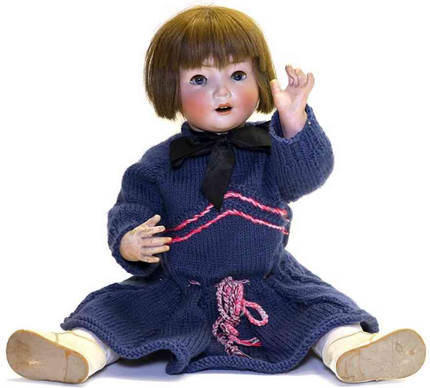 schonau & hoffmeister b5  porcelain head doll