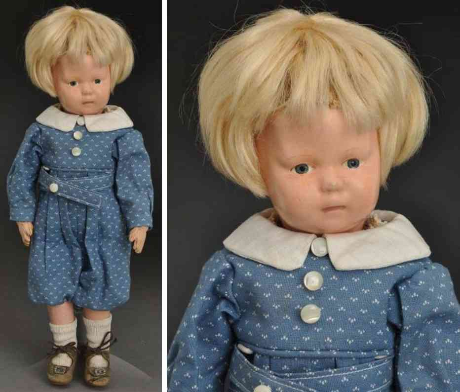 schoenhut wood toddler doll baby face model